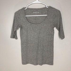 Everlane Grey Pima Cotton Top Sm
